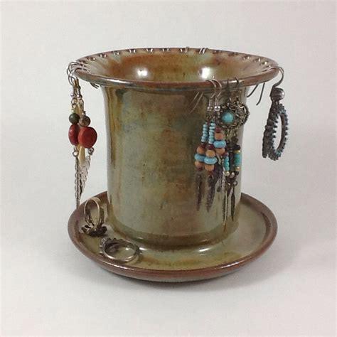 Pottery Jewelry Handmade - earring holder pottery jewelry holder by charlotteleepottery