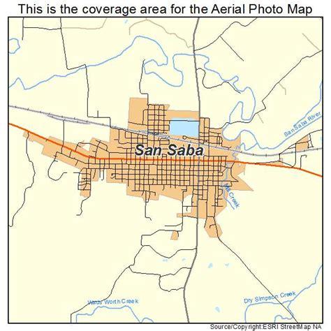 san saba texas map aerial photography map of san saba tx texas