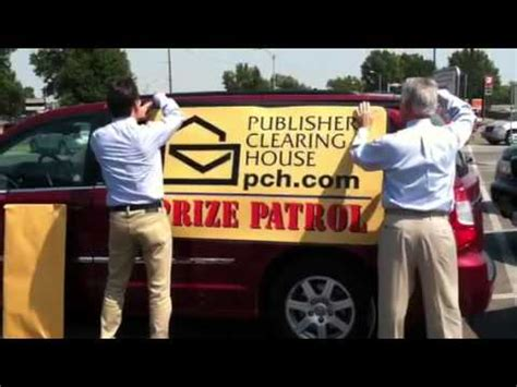 Pch Prize Patrol Van - watch as the prize patrol puts the sign on the van august 31st 2011 youtube