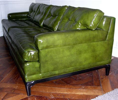 Green Leather Sofa Monteverdi Green Leather Sofa At 1stdibs
