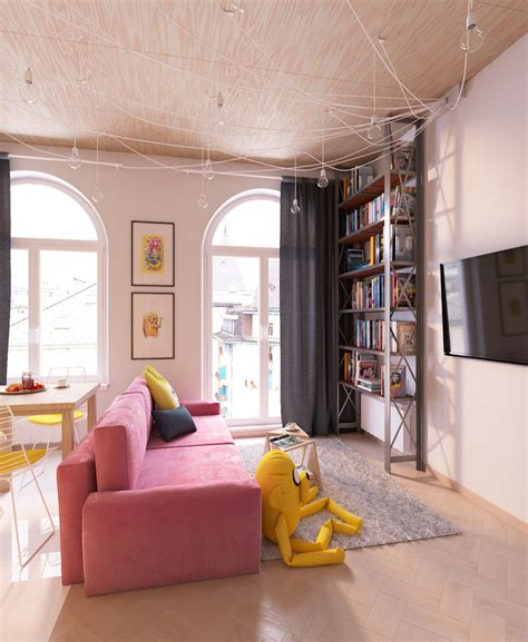 apartment theme awesome adventure time themed apartment sci fi design