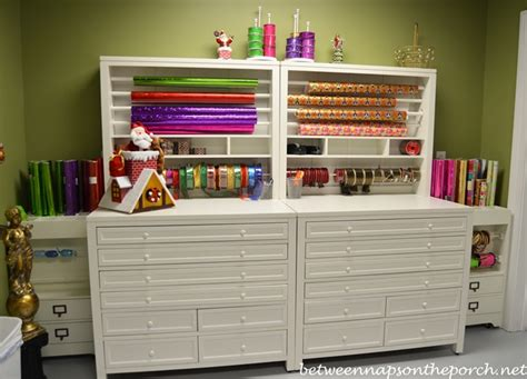 Home Decorators Craft Table Gift Wrapping Room With Martha Stewart Craft Gift Wrap Hutch And Flat File Cabinet