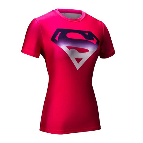T Shirt Armour Superman marvel armour t shirt superman compression t shirt fitness tights