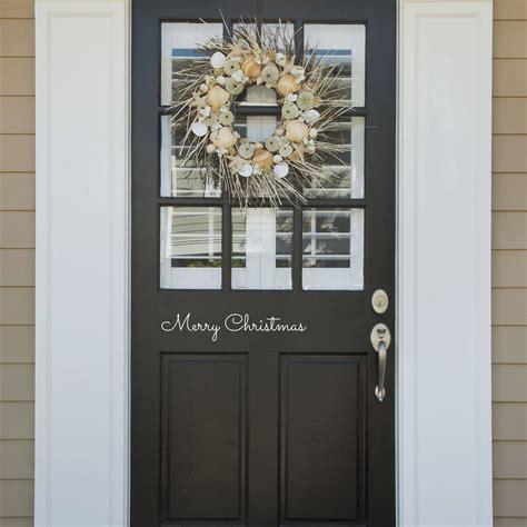 merry christmas door  wall sticker  nutmeg wall stickers notonthehighstreetcom