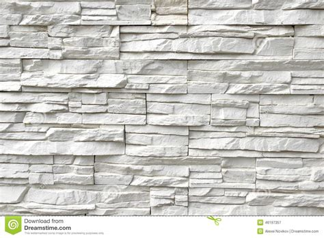 rivestimento interno cer parede de pedra artificial branca foto de stock imagem
