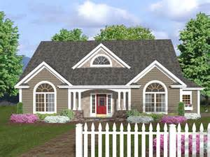One Level House Plans With Porch Crandall Cliff One Story Home Plan 013d 0130 House Plans
