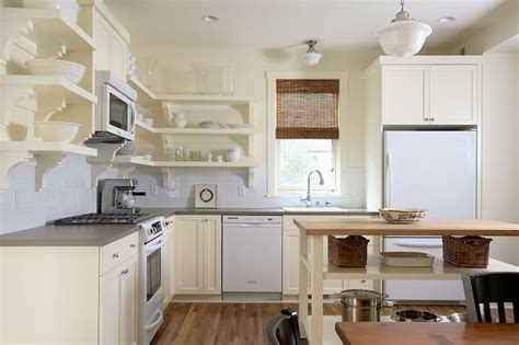 Cream Kitchen Cabinets, Transitional, kitchen, Benjamin Moore Ivory White, Erotas Building
