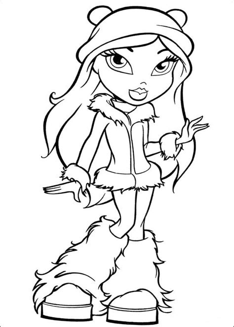 Free Printable Coloring Pages Cool Coloring Pages Bratz Free Bratz Coloring Pages