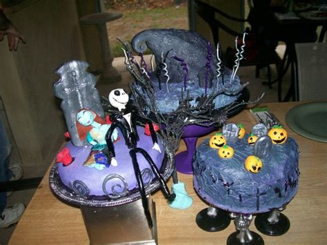 nightmare before christmas sweet 16 cake halloween