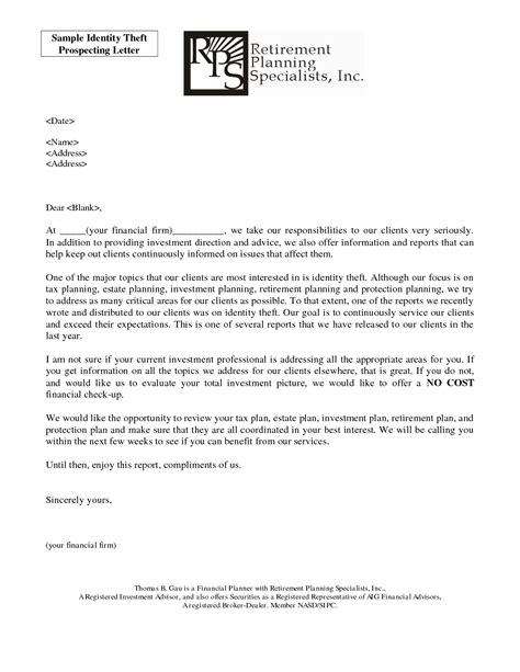 Letter To Credit Bureau For Identity Theft 7 best images of identity theft letter complaint letter