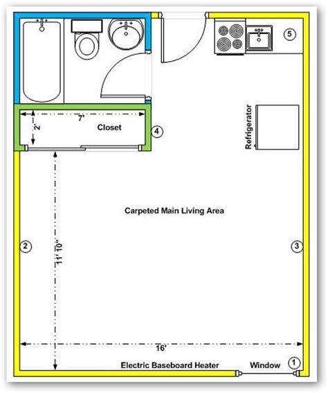 efficiency apartment floor plan studio apartments layouts