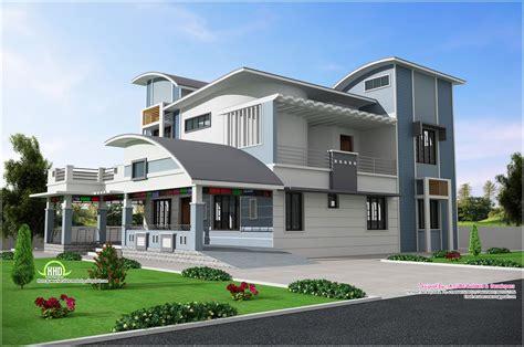 modern unique style villa design kerala home design