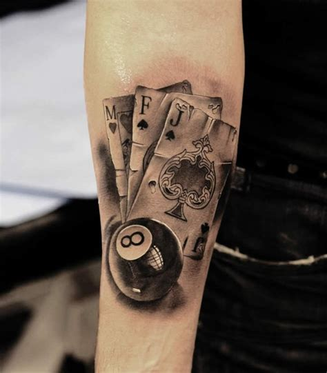 8 ball tattoo cards and snooker 8 tattoos