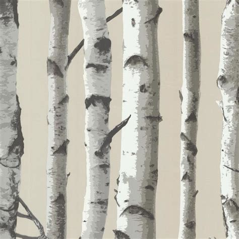 grey wallpaper with trees shop houzz brewster home fashions irvin gray birch tree