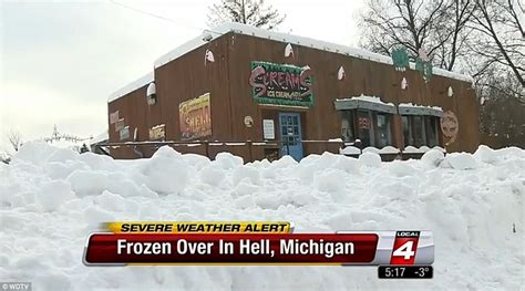 In The Newshell Has Frozen Overspocks I it s so cold that now hell has frozen michigan town