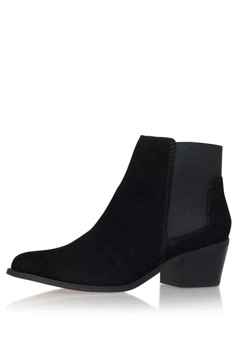 black low heel ankle boots by miss kg topshop