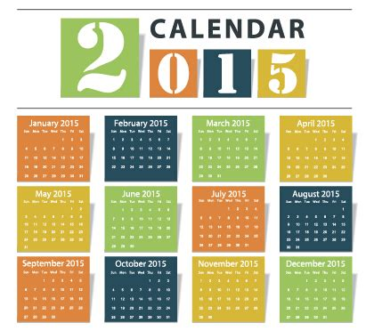 design of calendar 2015 grid calendar 2015 vector design 02 over millions