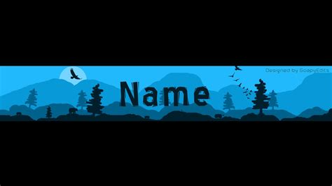 banner design gimp nature silhouette youtube banner photoshop template