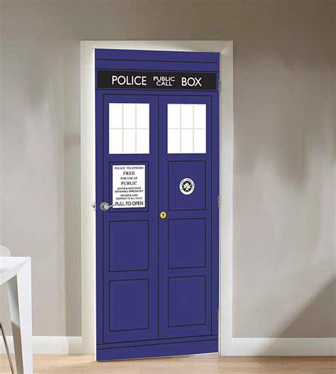 doctor who tardis door cling thinkgeek