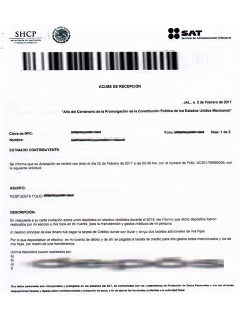 www sat gob mx declaracion mensual en 2016 responder carta invitaci 243 n del sat por dep 243 sitos en efectivo