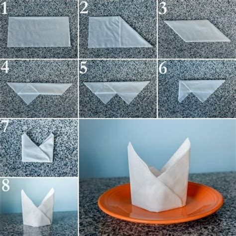 How To Make A Paper Napkin - paper napkin folding create festive