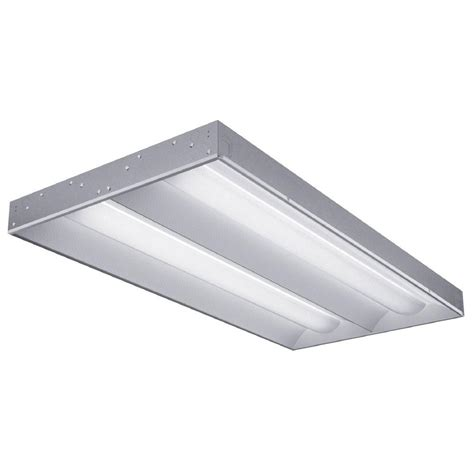 Lithonia Fluorescent Light Fixtures Lithonia Lighting 2 Light White Fluorescent Architectural Troffer 2rt5 28t5 Mvolt Geb95 Lpm835p