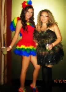 Diy parrot and peacock sexy bird halloween costumes