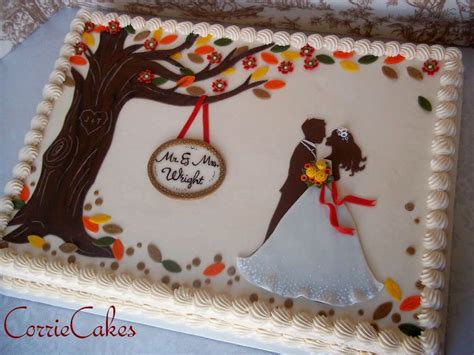 fall wedding sheet cake cake by corrie cakesdecor