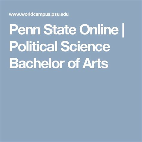 Political Science Bachelors Mba by 25 Best Ideas About Bachelor Of Arts On