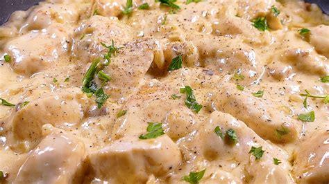 cocinar pechugas de pollo en salsa pechugas de pollo en salsa de queso recetas de cocina