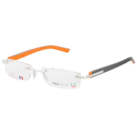 tag heuer charcoal orange 8107 006 trends rubber rimless