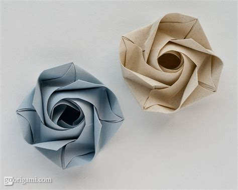 How To Fold Paper Roses - the gallery for gt how to fold origami step by step