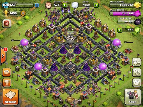 coc save layout th9 hybrid base to protect de clash of clans forums