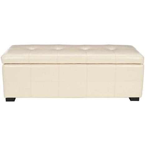cream storage bench safavieh maiden tufted large storage bench flat cream