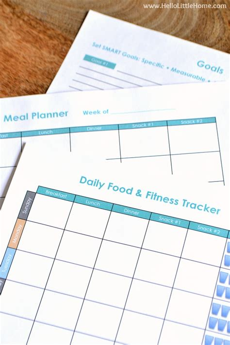 free printable fitness planner 2016 free printable food and fitness tracker