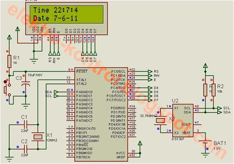 rangkaian jam digital dengan codevision avr dan 7 seven elektro kontrol jam digital menggunakan rtc ds1307 dengan