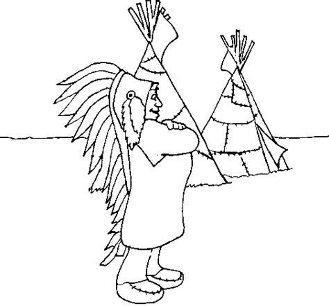 indian chief coloring page coloring page indian chief to color online coloringcrew com