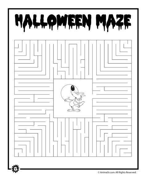 printable sewing maze halloween werewolf maze woo jr kids activities