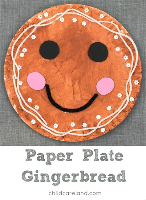 gingerbread for paper plate gingerbread craft for preschool and kindergten