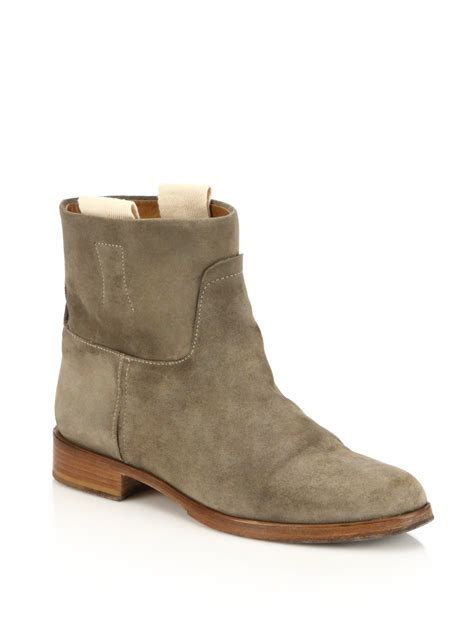 rag and bone boots rag bone suede ankle boots in gray lyst