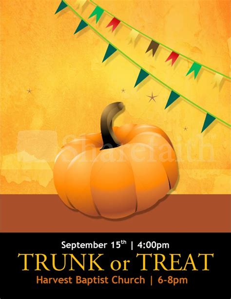 trunk or treat flyer templates template flyer templates