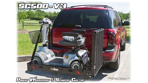 Scooter Rack For Car by Sc500 V3 Folding Power Wheelchair Scooter Carrier