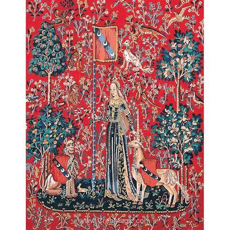 Tapisserie Dame à La Licorne by Margot Canevas Tapisserie Le Toucher Dame 224 La Licorne