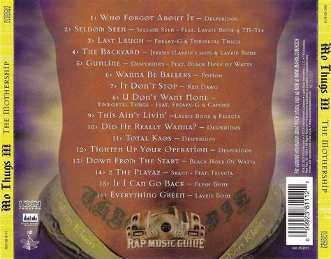 mo thugs iii  mothership cd rap  guide