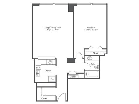 chicago apartment floor plans 1 bed 1 bath apartment in chicago il presidential towers