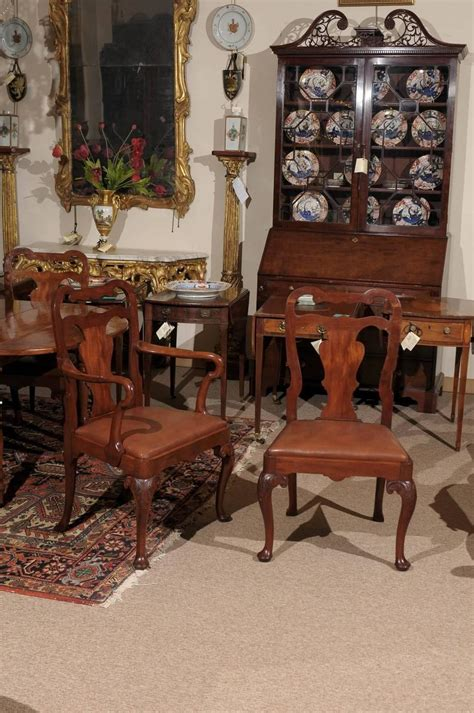 queen anne dining room set set of eight queen anne style mahogany dining chairs