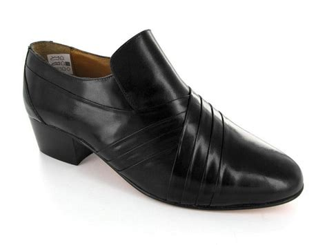 mens high heel shoes uk rombah wallace carnaby mens pleated soft leather cuban