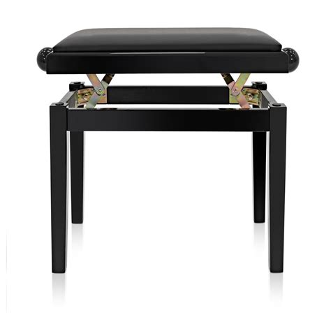 adjustable piano stool by gear4music polished at