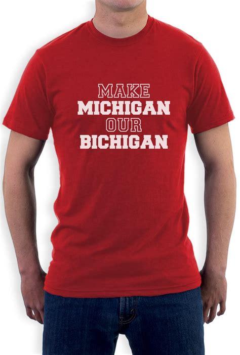 fan made t shirts make michigan our bichigan t shirt state football funny