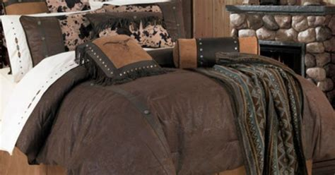 leather comforter caldwell western bedding comforter set features a rich